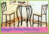 Antique Style Bar Table and Chair (1+2) Set