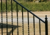 Wrought iron stair handrail