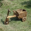 wooden wheel barrow