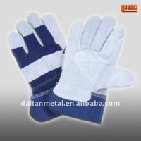 blue grain leather working gloves