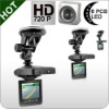 2.5 inch TFT Car dvr recorder bulit in 720P HD 120 Degree night vision DVR