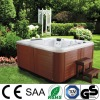 Portable deluxe outdoor spa with pop-up TV