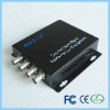 4 channel fiber optic cctv video converter