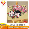 cartoon canvas oil painting by number set for kids' art--Lucky boy (10*15cm)