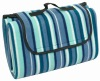stripe fleece picnic blanket for camping life