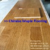 Solid Natural Chinese Maple Hardwood Flooring with T&G