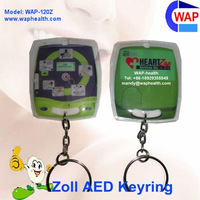 NEW! ZOLL AED promotional keyrings small led pvc keyring zoll defibrillator aed