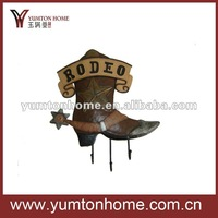 Cool western cowboy boot hook decoration