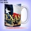 15oz white coated mug