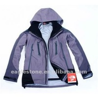 men's polyester softshell jacket with hood