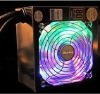 dc 220v 350W 400W computer power supply with big color LED fan