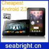 cheapest and latest 7'' android 2.3 tablet pc with infotmic 1GHz 2gb/256mb camera