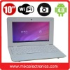 Cheapest 10 inch Netbook VIA8850 1.2GHz Android 4.0 512M/4G WiFi RJ45 Camera HDMI (3 colors)