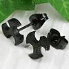Black platee hot selling piercing body jewelry boys earrings studs(WS962)