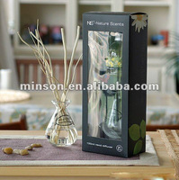 Aroma Reed Diffuser Glass Bottle with Wooden Stickers