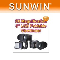 "NEW products 1 pcs 3X Magnify 3"" LCD Viewfinder for Canon 5D mark II Nikon#2"