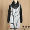 Women Fashion Style With Scarf Long Sleeve Stock Apparel
