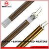 gold plated industrial halogen quartz infrared heating lamp in italian technology
