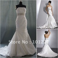 PR412 High Quality Taffeta Strapless Mermaid Wedding Gown