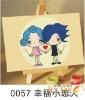 Diy digital painting kits lover theme -- (10*15cm)cartoon canvas DIY Paint by number set for kids' art