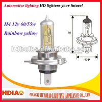 BEST SALE!!! H4 12V P43t Rainbow Yellow Fog Light Halogen Bulbs