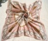 100% square silk scarf