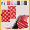Christmas gift! red white sweet polka dot for ipad mini leather case