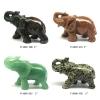 Gemstone Elephant Sculpture