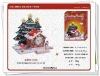 christmas house clock educational toys 3d effect jigsaw puzzle