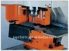 Hydraulic angle bar cutting and punching holes machine