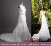 Real sample zipper button back Mermaid lace wedding dress Real-251
