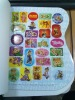 school student and children activity colouring book with sticker