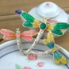 Charm dragon fly design bijoux jewelry vintage crystal brooch