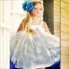 Square Neckline Ruffle Skirt 2012 Flower Girl Dresses