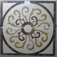 Polished mosaic waterjet medallion