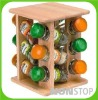 Eco-friendly and convenient Wooden Revolving Spice Rack