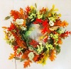 Colorful Artificial Flowers Wreaths for Halloween Decorations