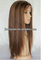 Wholesale high quality 100% human remy hair Indin lace front wig