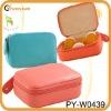 fashion lady leather pill box cosmetic organizer bag