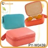 fashion lady leather pill box cosmetic organizer bag