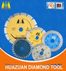 Dry/wet diamond saw blade for marble and granite cutting