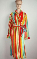 Printed Polyester Coral Fleece Bathrobe