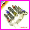 NEW FASHION JEWELRY COLORFUL CRYSTAL RINGS