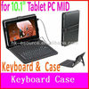 "USB Keyboard & Leather Cover Case Bracket Bag for 10.1"" Tablet PC MID PDA"