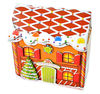 2012 Hot sale!!! christmas house shape gift box, christmas paper box, paper candy box for promotion