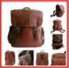 2012 Hot Sale Vintage Genuine Leather Backpack Handbag Purse Shoulder Bag School Bag
