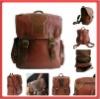 2012 Hot Sale Vintage Genuine Leather Backpack Handbag Purse Shoulder Bag School Bag