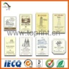 Beauty paper adhesive labels for wine bottles