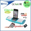 Portable Mini Speaker MP3 Player Amplifier Micro SD TF Card USB Disk FM Radio with remote control
