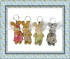 Easter Bunny Keyring Plush Decoration